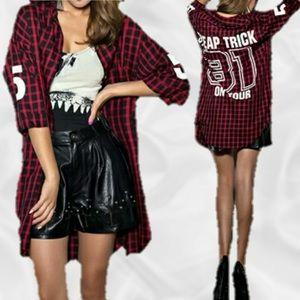 Tops - Long Flannel Button Down Top/ Dress